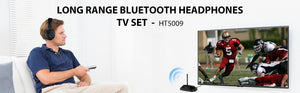 LONG RANGE Wireless Headphones for TV Watching with Bluetooth