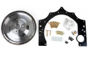 LS Conversions GF-LSZ33-S Z33 6 Speed Transmission-CD009 LS engine adapter, flywheel and mounting hardware