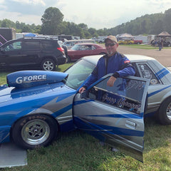 Greg Changet and his G Force sponsored racecar
