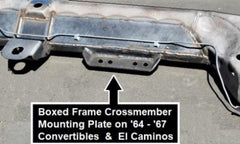 boxed frame crossmember mounting plate