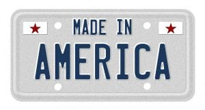 G Force Crossmembers Made in the USA license plate