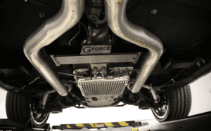 undercarriage of car for transmission swap