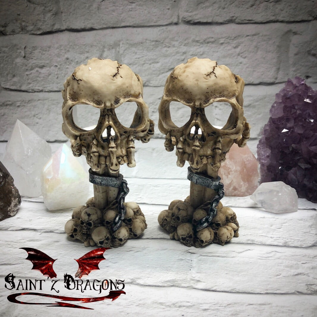 Deliberation Skull Tea-light Candle Holder