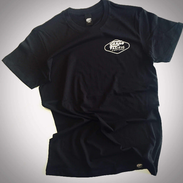 Grand Pacific Customs black tee in Amped design