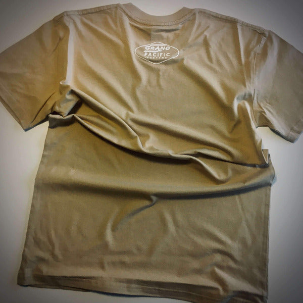 grand pacific customs grand tee tan sand back