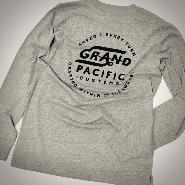 Classic 'AMPED' Long Sleeve - Grey Marle