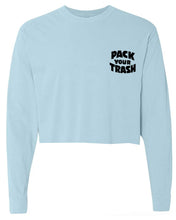 "Load image into Gallery viewer, Classic ""Surf Geek"" L/S Crop Tee"