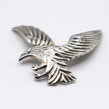 Load image into Gallery viewer, Navajo, 925 Silver Silver Eagle Brooch