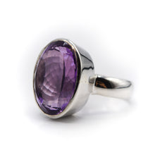 Load image into Gallery viewer, Amethyst Ring 925 Silver