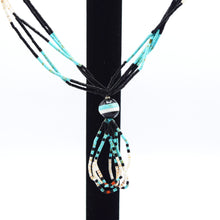 Load image into Gallery viewer, Navajo Turquoise, Coral and Onyx beaded Necklace