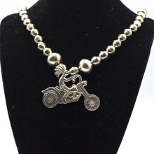 Load image into Gallery viewer, Navajo, Silver Kokopelli on the Bike Necklace