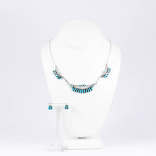 Load image into Gallery viewer, Zuni 925 Silver Needlepoint Turquoise Jewellery Set