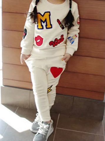 Girly Patch Sweatsuit