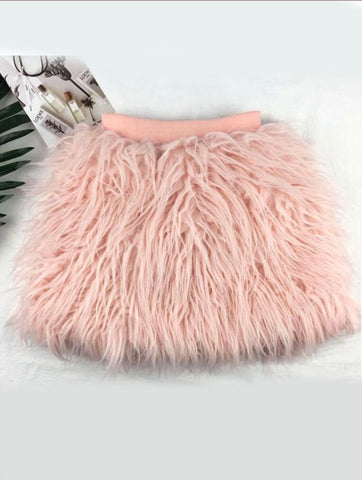 Pink Fringed Skirt