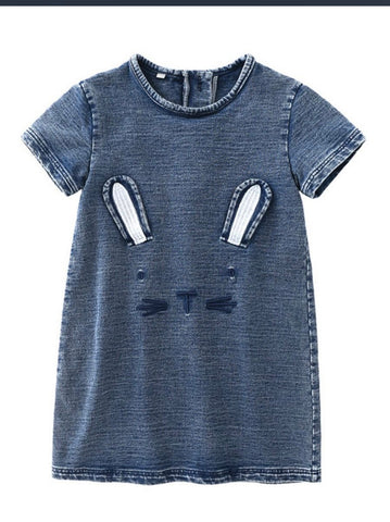 Lil lady bunny denim tee dress