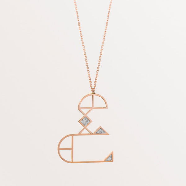 CLASSIC LETTER NECKLACE AIN
