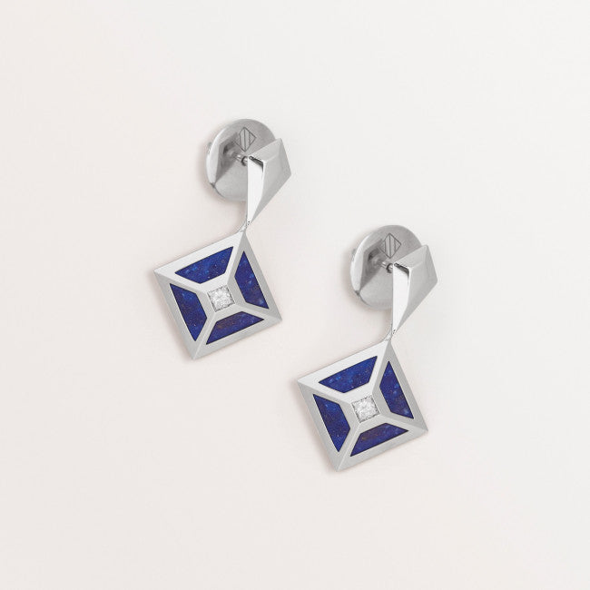 LAPIS TOKEN EARRINGS