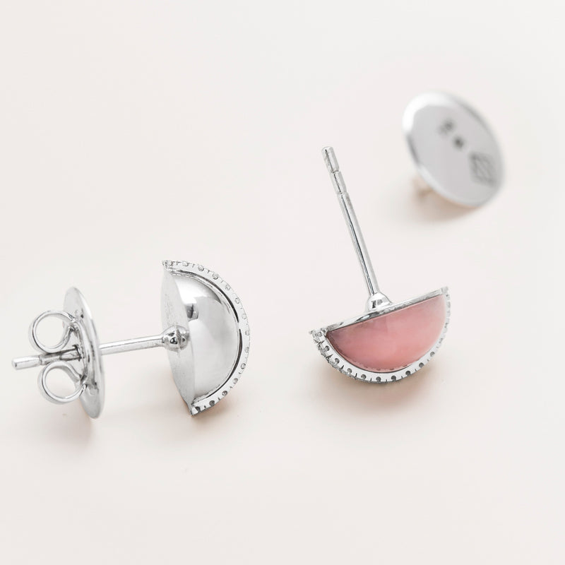 SPHERE EARRINGS WG IN PINK OPAL
