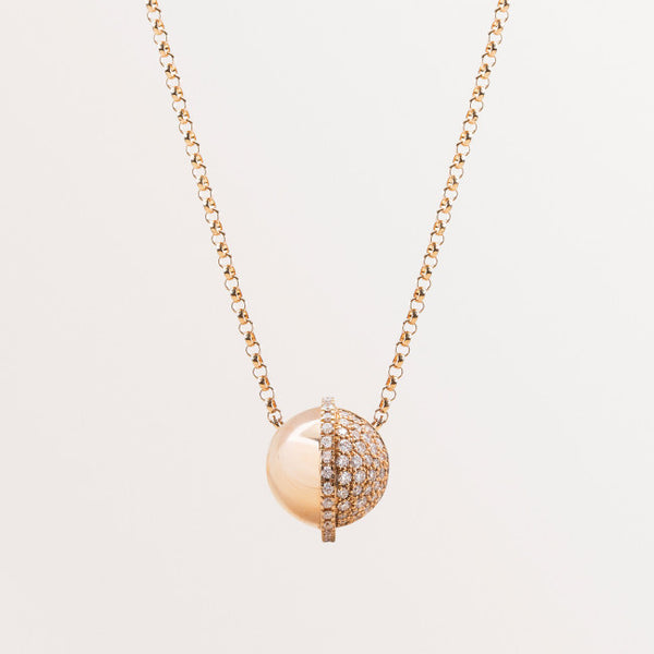 SPHERE NECKLACE IN DIAMONDS