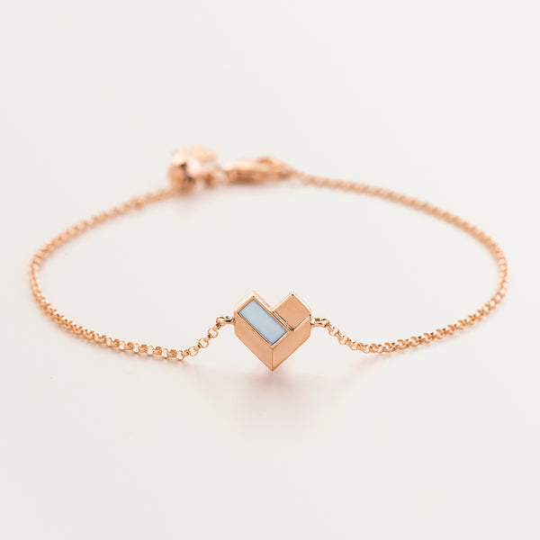 KIDS GEOMETRIC HEART BRACELET-MOP