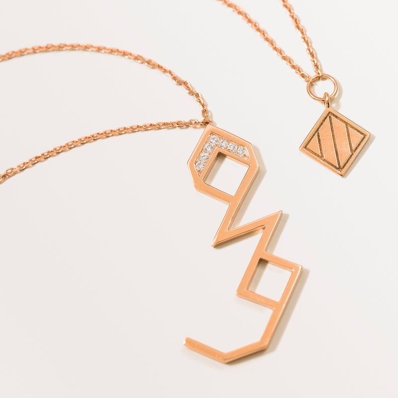CLASSIC LETTER NECKLACE RAA