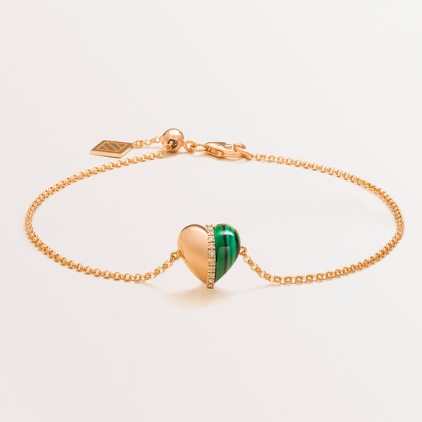 VALENTINE BRACELET IN MALACHITE