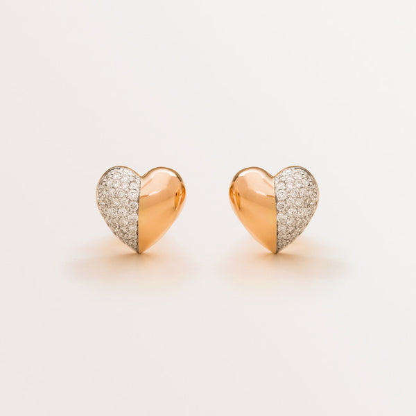 VALENTINE EARRINGS IN DIAMONDS