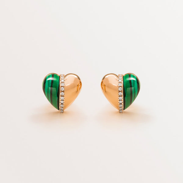VALENTINE EARRINGS IN MALACHITE