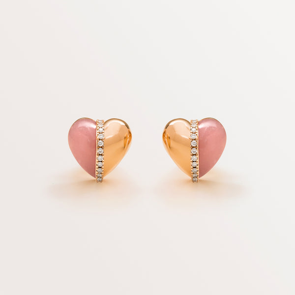 VALENTINE EARRINGS IN PINK OPAL