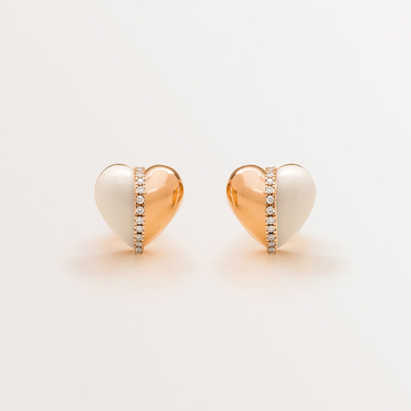 VALENTINE EARRINGS IN WHITE AGATE