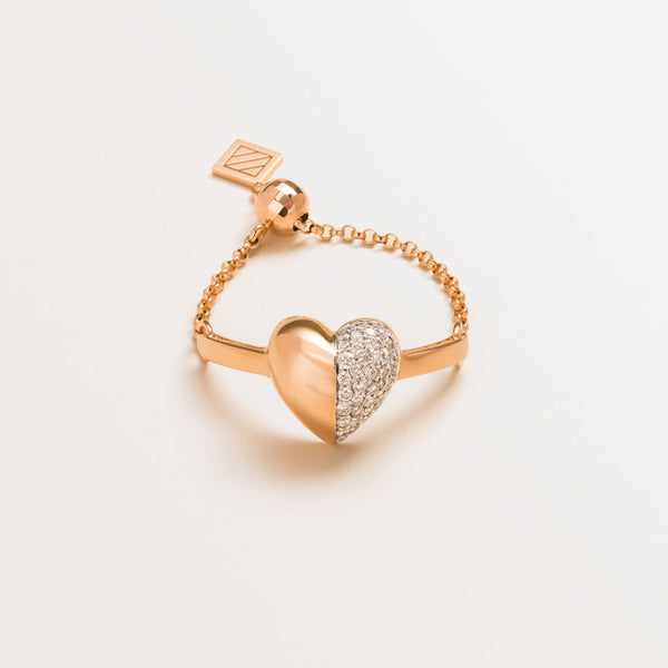 VALENTINE RING IN DIAMONDS