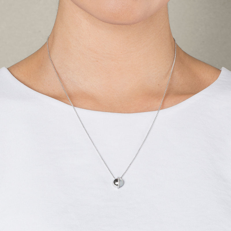SPHERE NECKLACE IN WHITE GOLD AND MOP