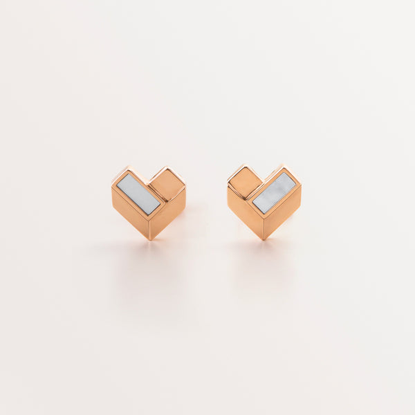 KIDS GEOMETRIC HEART EARRING