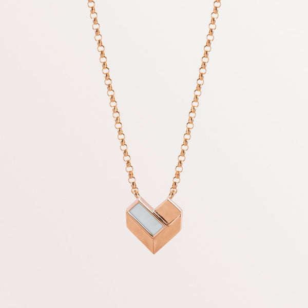 KIDS GEOMETRIC HEART NECKLACE-MOP