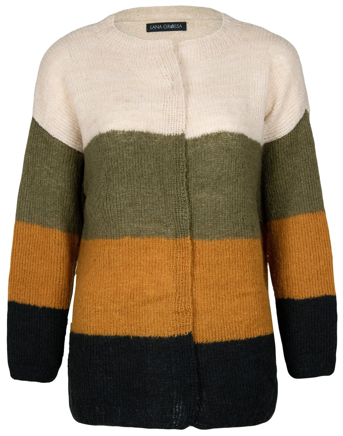 Jacke mit Colourblocks - Strickset