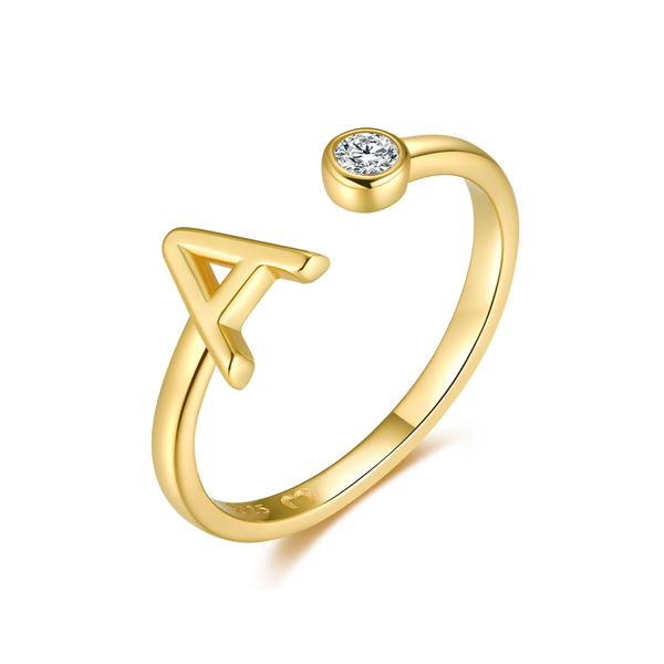 "Anello ""Top Letter"" ~ Argento Sterling 925"