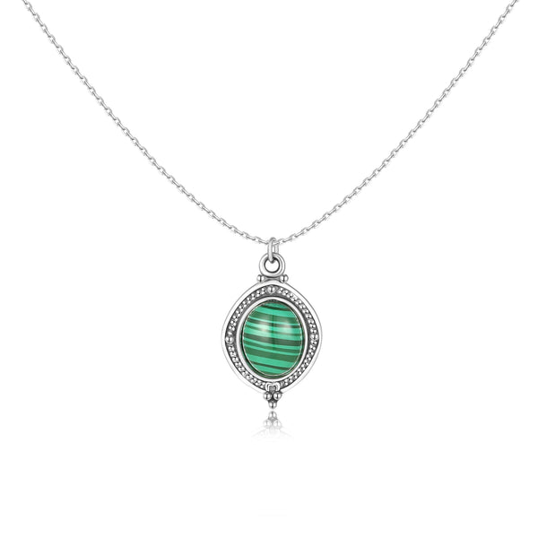 "Collana ""Green Oval"" ~ Argento Sterling 925"