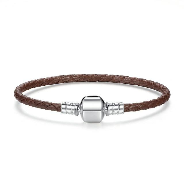 "Bracciale Pelle Base Gingillo ""Basic"" ~ Argento Sterling 925"