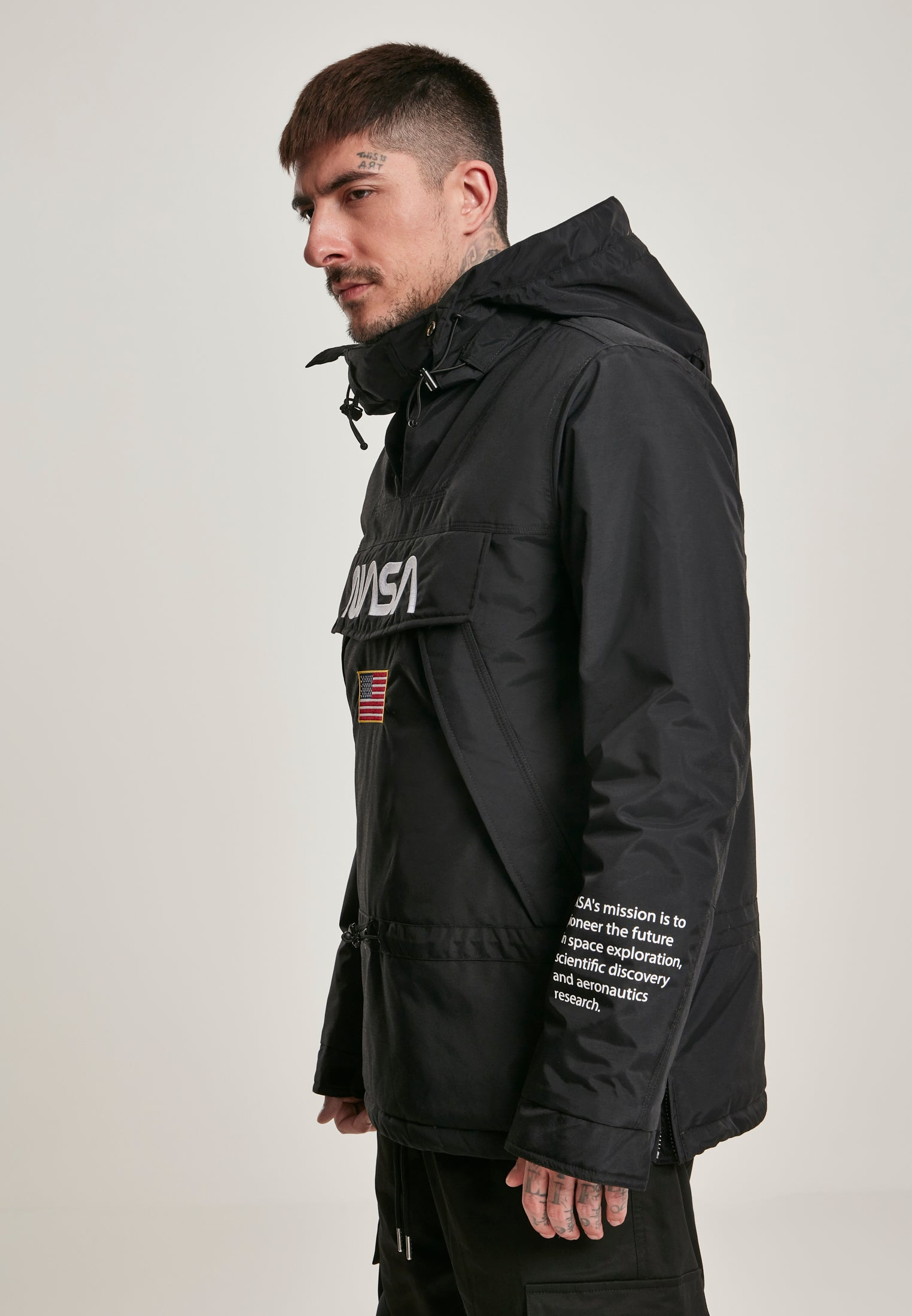 NASA Windbreaker (Zwart)