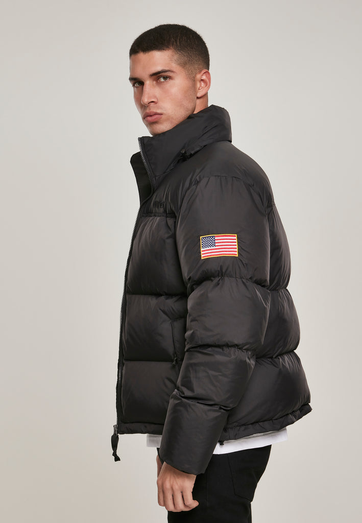 NASA Two-Toned Puffer Jacket (Zwart)