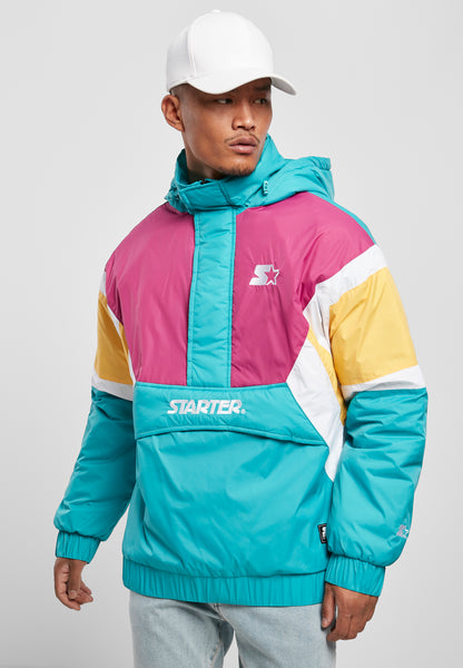 Starter Color Block Half Zip Retro Jacket (Blauw)