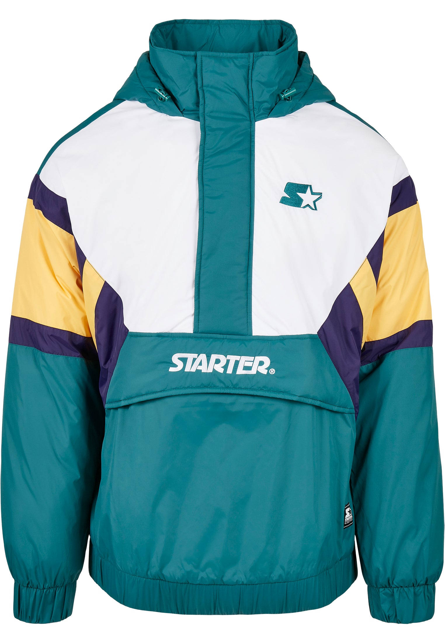 Starter Color Block Half Zip Retro Jacket (Zwart)
