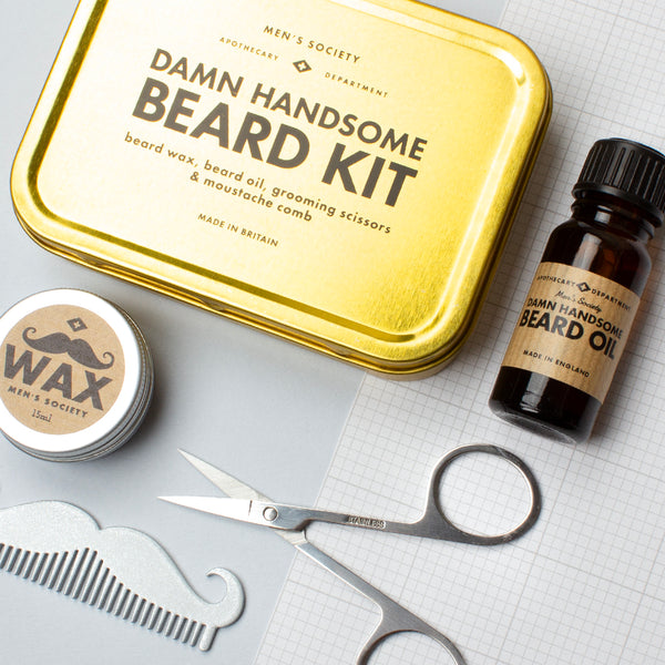 Damn Handsome Beard Grooming Kit || Men's Society