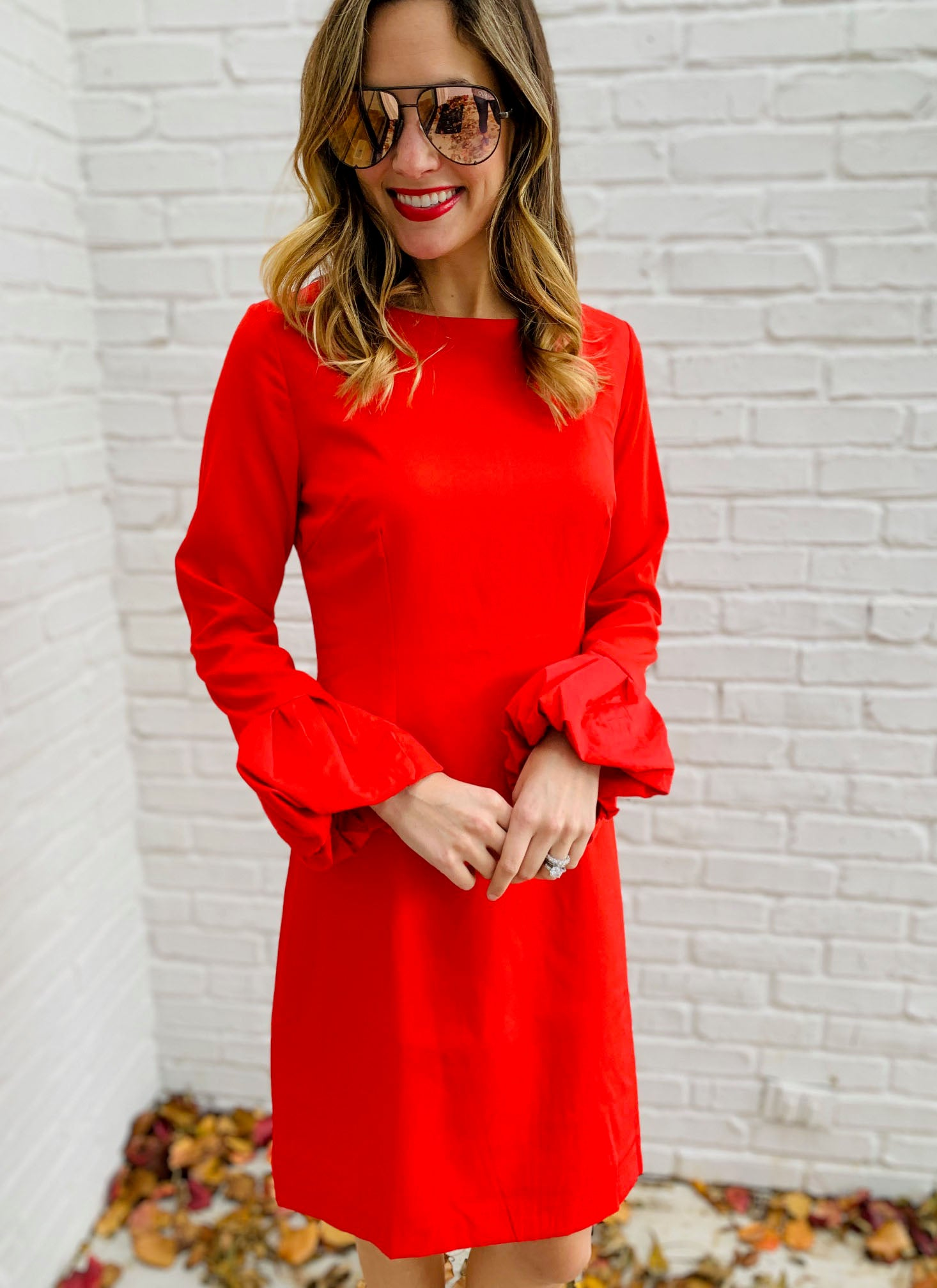 Holly Dress in Red