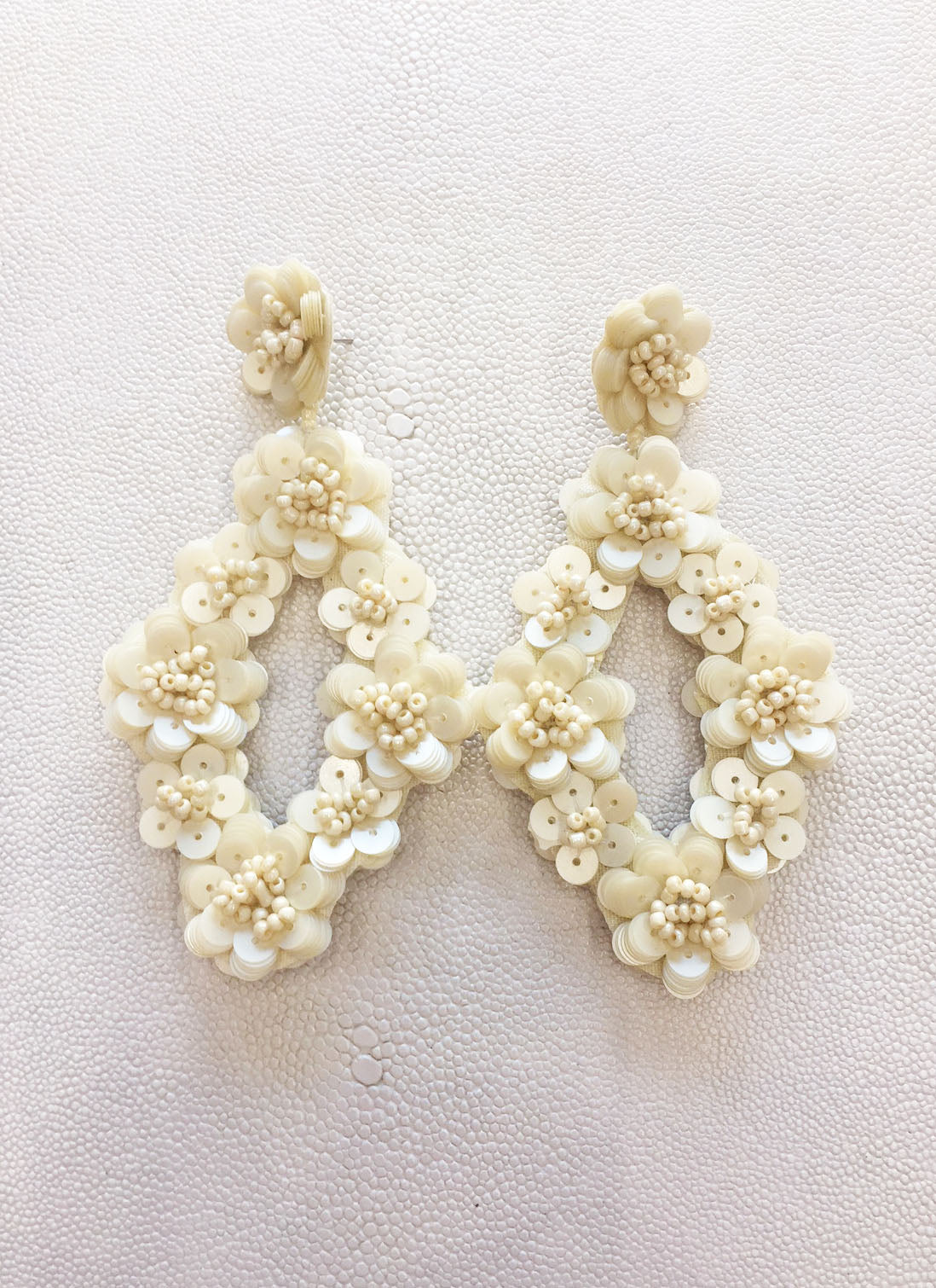 Francie Earrings in Ivory