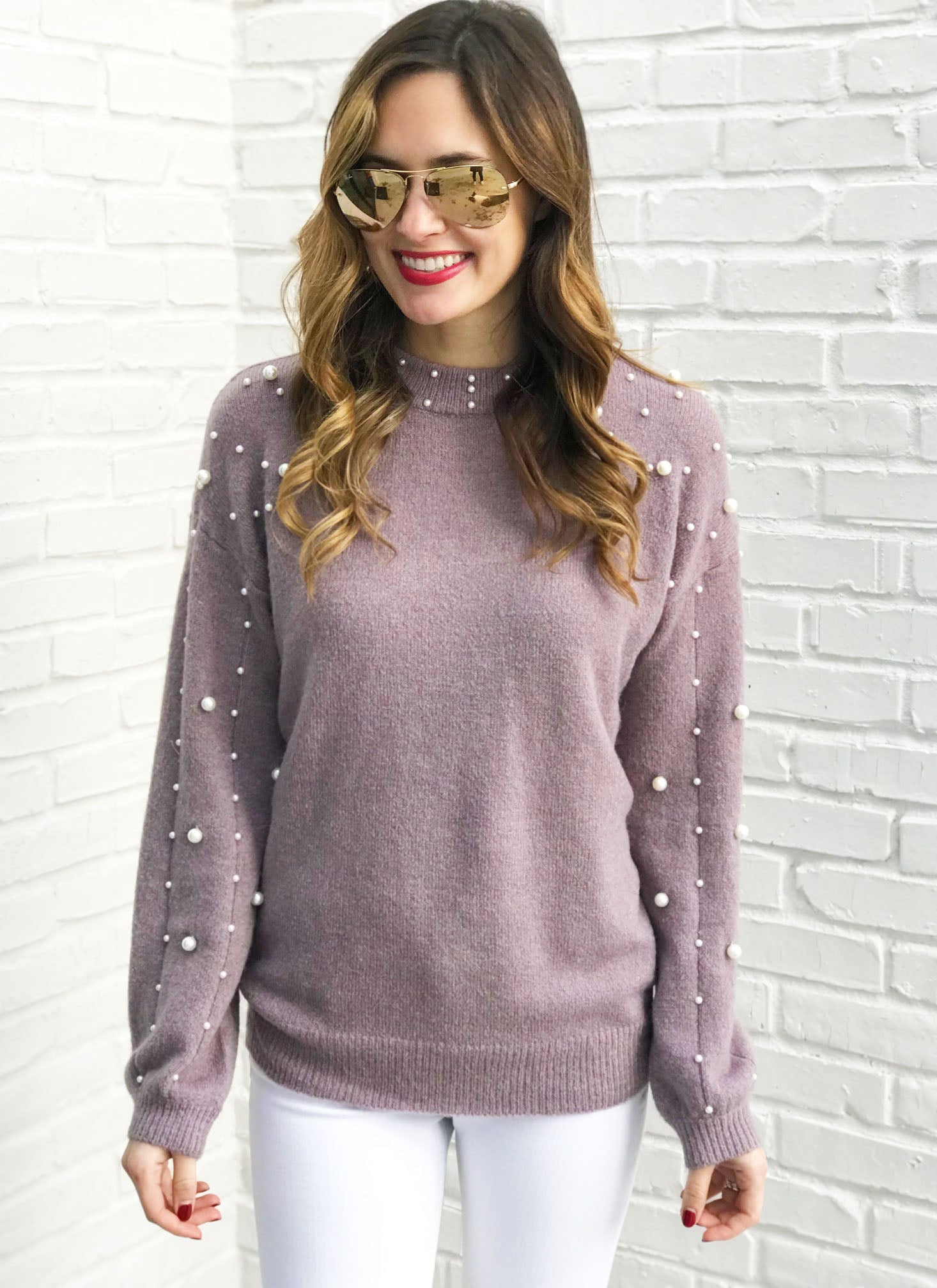 Reese Sweater in Lavender