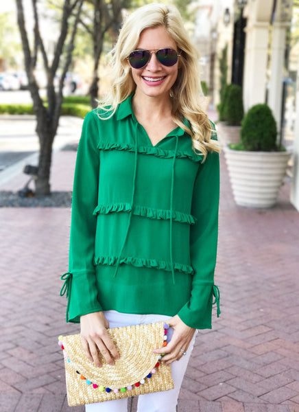 English Top in Kelly Green