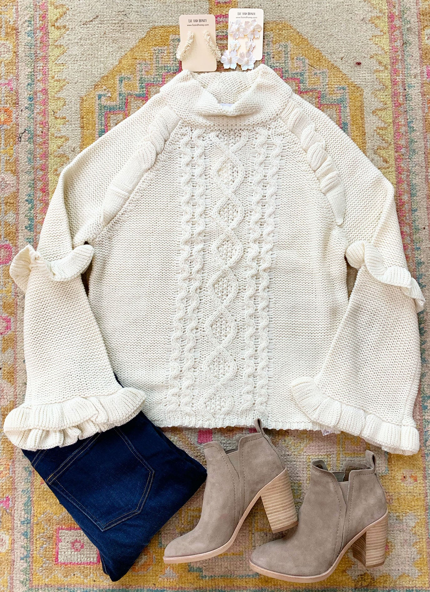 Brighton Sweater in Ivory