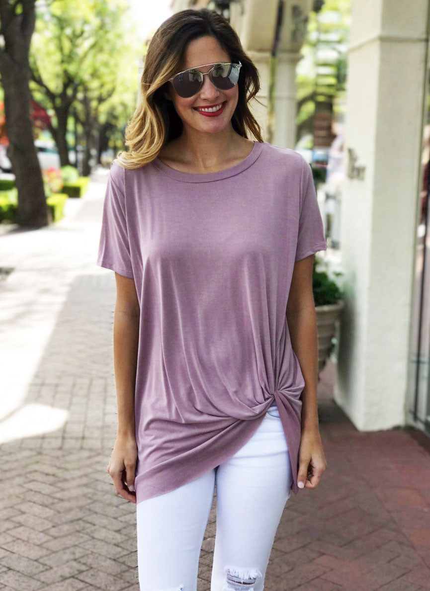 Hardy Top in Mauve