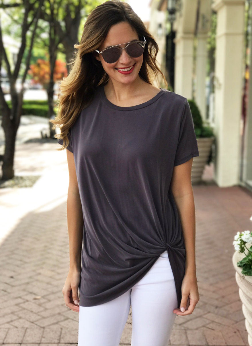 Hardy Top in Charcoal
